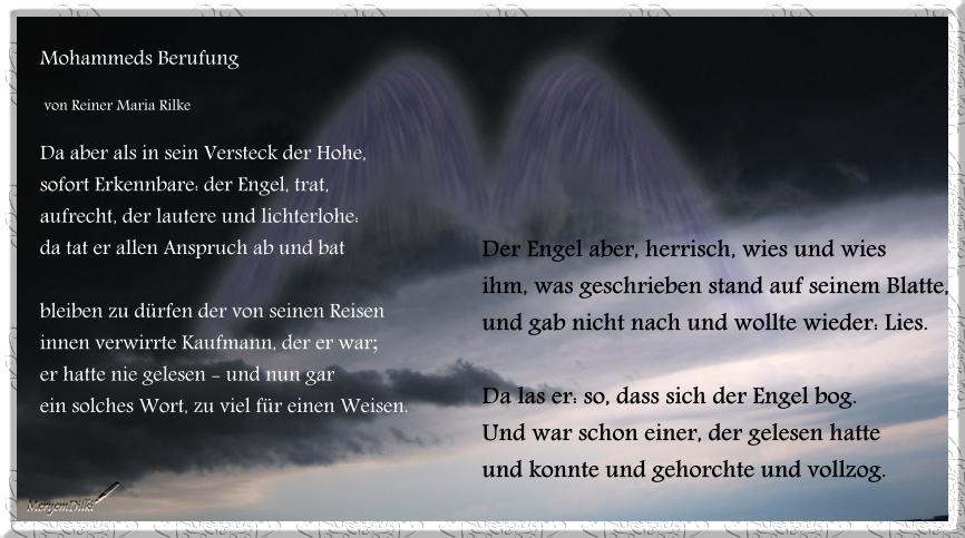 Rainer maria rilke gedichte trauer